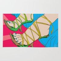 feet Area & Throw Rugs featuring Feet by Mauro Squiz Daviddi