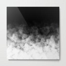 Ombre Black White Minimal Metal Print