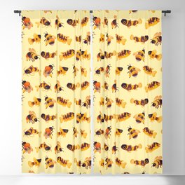 Bumblebee and fish Blackout Curtain