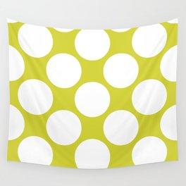 Polka Dots Green Wall Tapestry
