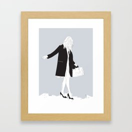 Winter Fashion Girl in the Snow Framed Art Print