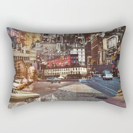 Big City Vintage Cars Rectangular Pillow