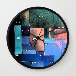 Robot Faces Wall Clock