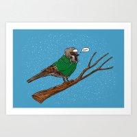 Annoyed IL Birds: The Sparrow Art Print