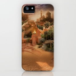 Desert paradise on the edge of Hell - Sandstorm iPhone Case