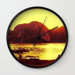 Thailand Koh Samui Boat Trip Travel Sunset Wall Clock