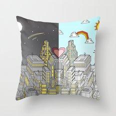 Night & Day Throw Pillow