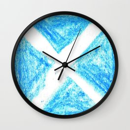 flag of scotland 7– scotland,scot,scottish,Glasgow,Edinburgh,Aberdeen,dundee,uk,cletic,celts,Gaelic Wall Clock