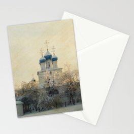 Church in Winter Estate Stationery Cards