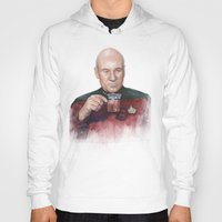 picard Hoodies featuring Tea. Earl Grey. Hot. Captain Picard Star Trek | Watercolor by Olechka
