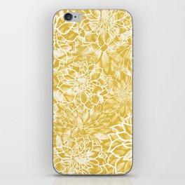 Floral Yellow Dahlias iPhone Skin