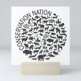 A Circle of Animals Mini Art Print