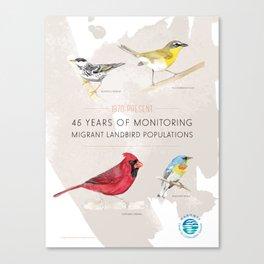 45 Years of Monitoring Landbird Populations  Canvas Print