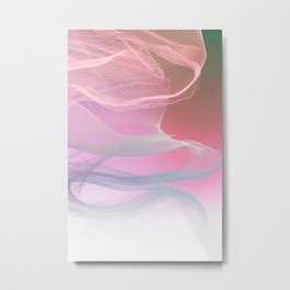Flow Motion Vibes 1. Pink, Violet and Grey Metal Print