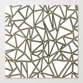 Ab Blocks White Gold Canvas Print