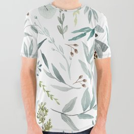 Eucalyptus pattern All Over Graphic Tee