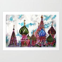 Moscow Saint Basil: Russian Series 2017 Art Print