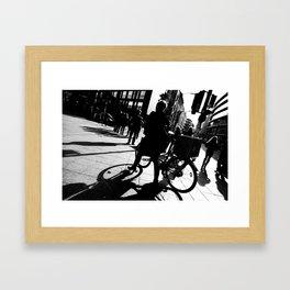 Berlin's streets in black and white 2 Framed Art Print