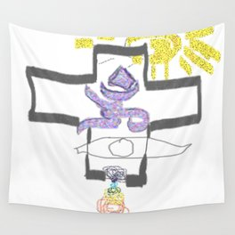 I AM Religion 2b Wall Tapestry