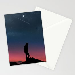 Lonely Man Manipulation Stationery Cards