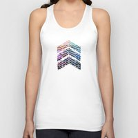 ikat Tank Tops featuring Chevron iKat by Steven Womack
