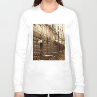 melbourne Long Sleeve T-shirts featuring Collins St, Melbourne, Australia by SwanniePhotoArt