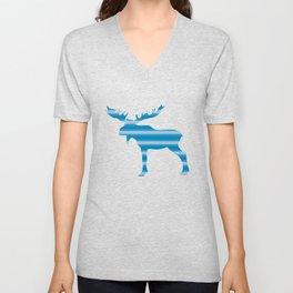 Moose Animal Gift Unisex V-Neck