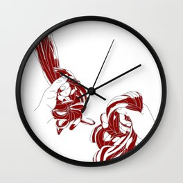 Rapunzel - brothers Grimm illustration Wall Clock