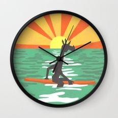 Surf Unicorn Wall Clock