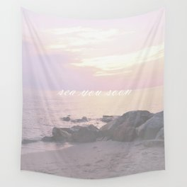 Sea You Soon Sunset Wall Tapestry