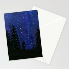 Twinkle, Twinkle, Stars Night Sky Painting Stationery Cards