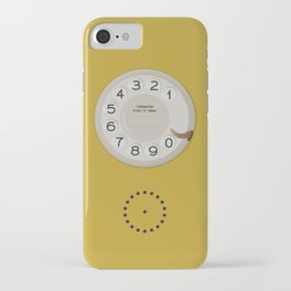 Vintage Dial Phone Yellow iPhone Case