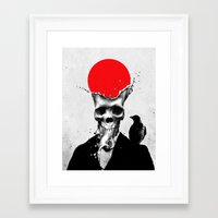 splash Framed Art Prints featuring SPLASH SKULL by Ali GULEC