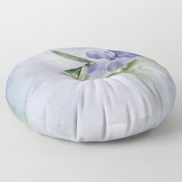 Periwinkle in vial Art #2 Floor Pillow