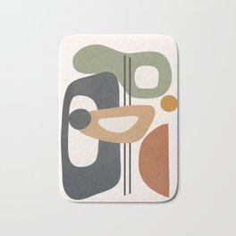 Modern Abstract Shapes 12 Bath Mat
