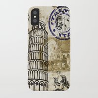 italy iPhone & iPod Cases featuring italy by Natasha79