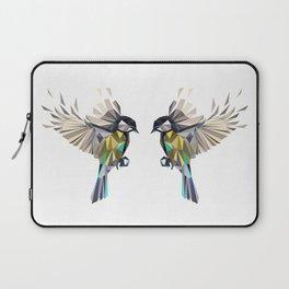 Flying Songbird Cyanistes Caeruleus Blue Tit Bird Laptop Sleeve