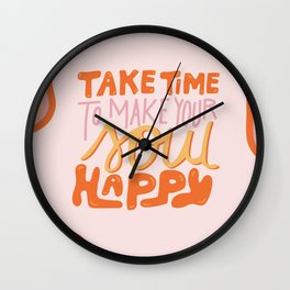 Happy Soul Wall Clock