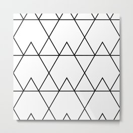 Black Thick Line Art Metal Print