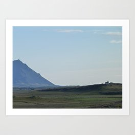 Icelandic mountains Art Print