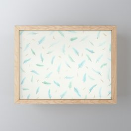 Watercolor Feathers Framed Mini Art Print