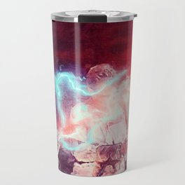 Egon Battling Gozer With The Ghostbusters Travel Mug