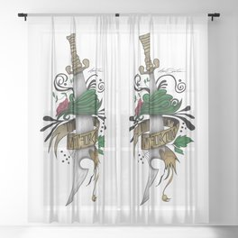 Symbolic Sword Sheer Curtain