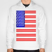 american flag Hoodies featuring American Flag by Justbyjulie