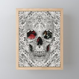Lace Skull Light Framed Mini Art Print