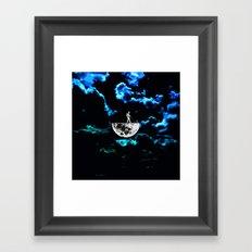 month in the split Framed Art Print