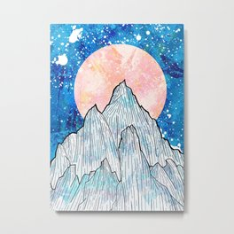 The cold peaks and the giant sun Metal Print