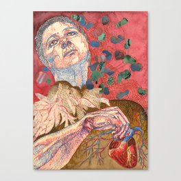 Magical Anatomy:  Joan With Heart Canvas Print