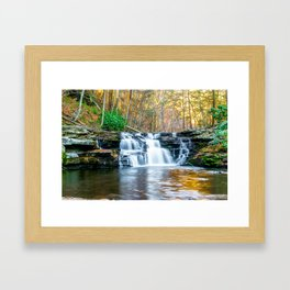 Fall Falls Framed Art Print