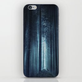 worse dream - spooky forest scenery with bird iPhone Skin